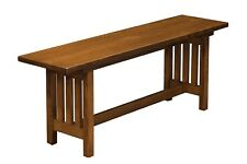 Amish Mission Bench Wood Furniture Indoor Entryway New