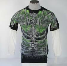 TapOut Vintage Black Layered Sleeve Shirt NWT
