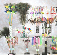 Vee Cat Feather Leather or Tassel Teaser Toy Wands