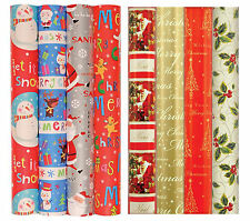10m Roll Xmas Christmas Cute/Traditional Wrapping Paper 8 Designs