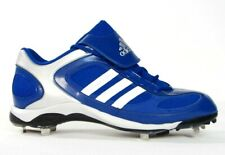 Adidas Diamond King Metal Baseball Cleats Shoes Softball Blue & White Mens NEW