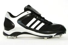 Adidas Diamond King Metal Baseball Cleats Shoes Softball Black & White Mens NEW