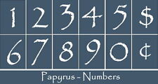 Primitive Stencil~Numbers-Papyrus~House Address Mail Box Phone Sign Calendar
