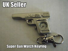 NOVELTY REPLICA HAND  GUN PISTOL WATCH  KEYRING GIFT IDEA UK SELLER FREE P&P