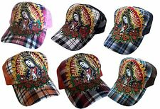 TATTOO Rhinestone Fashion Trucker Mesh Ball Cap/Hat-Guadalupe