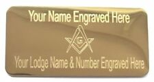Masonic Craft Regalia Case Name Plate - Engraved