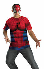 SPIDERMAN NO SCARS SHIRT AND MASK ADULT COSTUME SuperHero Movie Theme Party