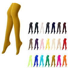 [Mustard Color] Opaque Womens Pantyhose Stockings Tights Colour