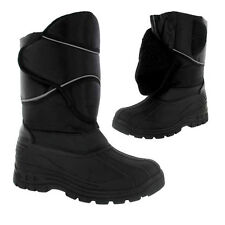 MENS SNOW BOOTS WATERPROOF MUCKER THERMAL WELLINGTONS FUR SKI WINTER BOYS BLACK