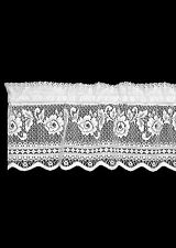 "Heritage Lace Victorian Rose Insert Valance 36"" x 11"" Ecru/White"
