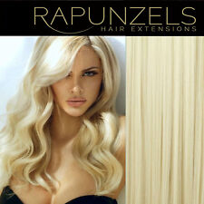 "16"", 20"", 24"" HUMAN REMY HAIR EXTENSIONS WEFT/WEAVE BLEACH BLONDE 613"