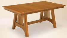 Amish Dining Room Table Mission Solid Wood Furniture Rectangle Rectangular New