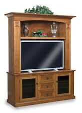 Amish Mission LCD Cabinet Entertainment Center Solid Wood TV Television Stand