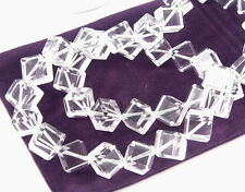 Quartz Clear Crystal Beads - genuine quartz crystal - Choose Shape & Size