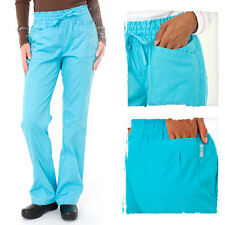 NEW KOI WOMEN'S KARLIE STRAIGHT LEG SCRUB PANTS 4 POCKETS ELASTIC WAISTBAND