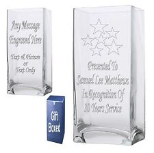 Personalised 22cm Rectangle Vase Outstanding Achievement Award  Gift Present