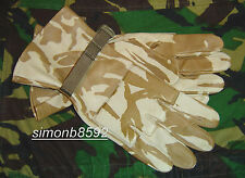 NEW BRITISH ARMY SURPLUS ISSUE DESERT DPM CAMO LEATHER HOT WEATHER COMBAT GLOVES