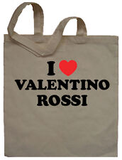 I Love Valentino Rossi Tote Bag Shopper - Can Print Any Name Words Personalised