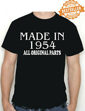 Made in 1954 BIRTHDAY T-SHIRT All Original Parts Birthday Gift Idea Choose size