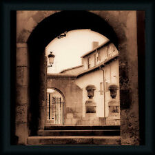 Courtyard in Burgos European Architecture Framed Art Print Wall Décor Picture