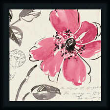 Windy I by Pela Studio Contemporary Red Poppy 18x18 Framed Art Print Picture