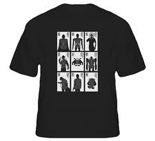 Movie Villians Scary Film Bad Guys Target  Weapons Funny Joke T Shirt