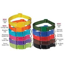"""Zack & Zoey Nylon Dyed Dog Collar 18""""-26"""" NEW COLORS"""