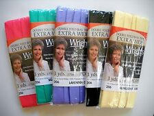 """Wrights Extra Wide Double Fold Bias Tape 1/2"""" 3 yds."""