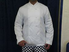 CHEF JACKETS CHEF WHITES UNISEX WHITE CHEF COAT FULL SLEEVE