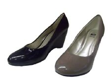 Ladies Shoes Beauty Black or Latte Patent  Pump Wedge Heels  New Size 5-10