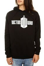 Black & White Doctor Who Logo Pullover Hoodie XL New