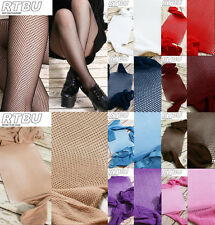 Punk Fishnet Net Mesh Tights Pantyhose Red Pink Teal Purple Blue Nude White