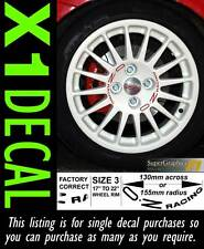 Centre Wheel Decal sticker for OZ Racing stud spacing 100-108 PCD Colour white