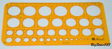 New Circle Drawing Template Stencil LOT K100
