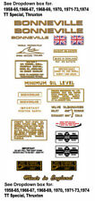 1958-74: Bonneville T120 -RESTORERS DECAL SETS- Triumph Bonneville Decals