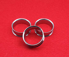 "Popular New Double Flared Surgical Steel Silver Plugs( 8 g 3.2mm - 2""inch. 51mm)"