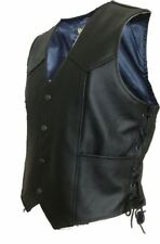 New ProSpeed fashion motorcycle motorbike Leather waistcoat vest