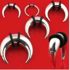 PAIR (2) Stainless Steel Buffalo Tapers EAR PLUGS Expanders Stretchers Pick A Sz