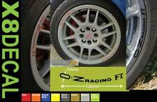 Wheel Rim Decal stickers to fit OZ Racing F1 wheel X8 Made in Ten Colours