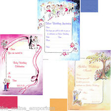 40 SILVER, RUBY OR GOLDEN WEDDING ANNIVERSARY PARTY INVITATIONS & ENVELOPES