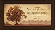 LIVING LIFE by Bonnie Mohr FRAMED ART PRINT PICTURE Tree Inspirational 21x39