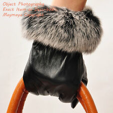 Wildbirds Winter warm Women's rabbit fur&sheep leather gloves