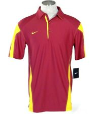 Nike Dri Fit Dark Red Short Sleeve Polo Shirt Mens NWT