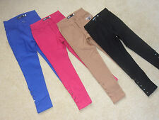 GIRLS TEENS SKINNY TROUSERS / CHINOS STUDDED NEW WINTER FASHION * AGES 4 - 13 *