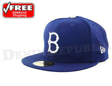 New Era 5950 BROOKLYN DODGERS GM Game MLB Baseball Cap Fitted Hat Lt. Royal