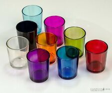 Colored Glass Votive Holders (1 Dozen) Choose From 9 Colors