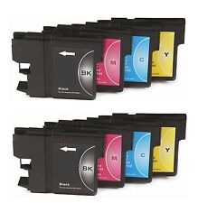 8 x Inkjet Cartridges Non-OEM Alternative For Brother LC1100 - 2 Sets Multi Pack