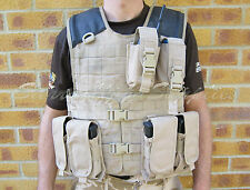 BRITISH ARMY SURPLUS DESERT TAN OSPREY SOLO BODY ARMOUR MOLLE VEST COVER G1