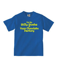 Dip My Willy Wonka ... Funny / Rude Blue Joke T-Shirt - NEW - Front Print