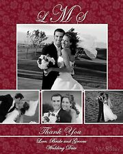 Custom Wedding Thank You Cards  *Choose any design, Any color*  25 50 75 100 125